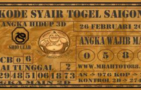 Syair Togel Saigon 26 Februari 2021