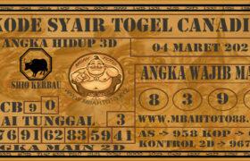 Syair Togel Canadia 04 Maret 2021