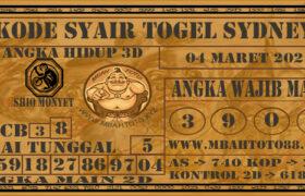 Syair Togel Sydney 04 Maret 2021